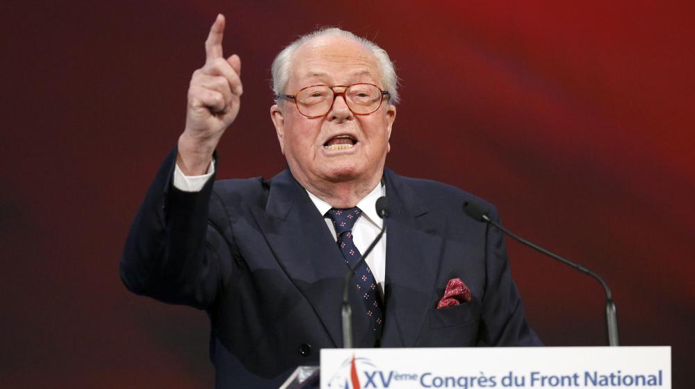 Jean-Marie Le Pen, le 29 novembre 2014,à Lyon (Rhône), lors d'un congrès du Front national.