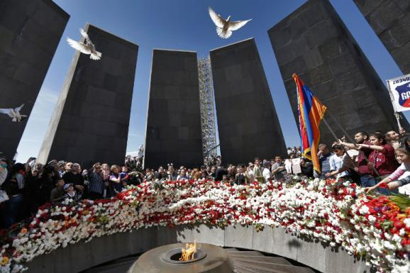 Le mémorial du génocide arménien à Erevan (Arménie), photographié le 24 avril 2014.