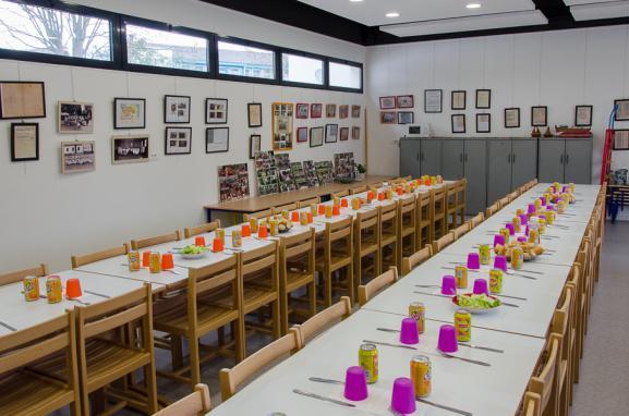 Le lieu de mémoire du génocide arménien installé dans la cantine de l'école maternelleTebrotzassère, le 3 avril 2015.