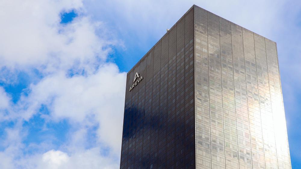 Le siège d'Areva, photographié le 4 mars 2015 dans le quartier d'affaires de la Défense (Hauts-de-Seine).
