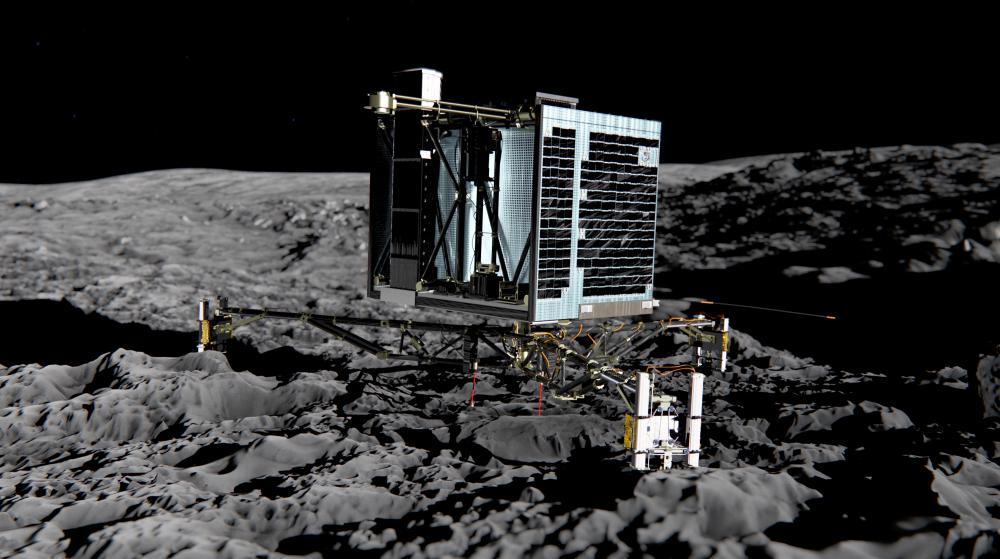 Modélisation par ordinateur du robot Philae, fournie par l'Agence spatiale européenne, en décembre 2013.