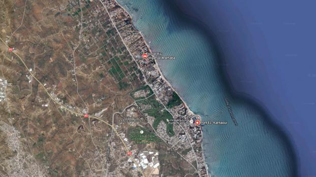 Capture d'écran de la plage tunisienne où est situé l'hôtel victime d'une attaque, le 26 juin 2015, à Sousse (Tunisie).