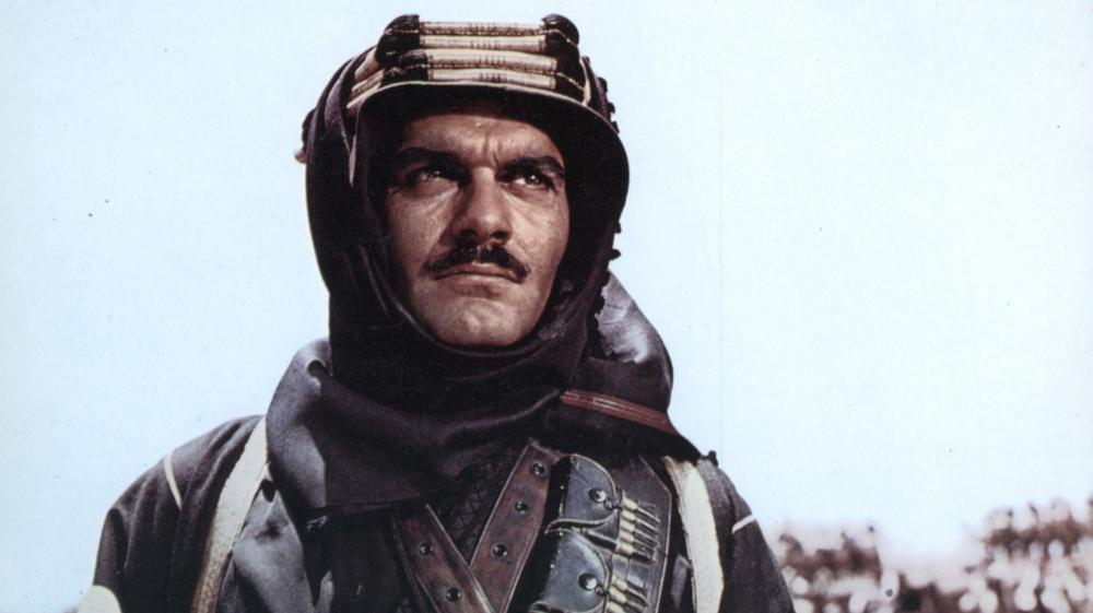 """L'acteur égyptien Omar Sharif dans """"Lawrence d'Arabie"""", en 1962."""