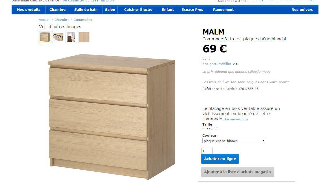 Prix Commode Malm Ikea après la mort de deux enfants, ikea offre un kit pour fixer ses