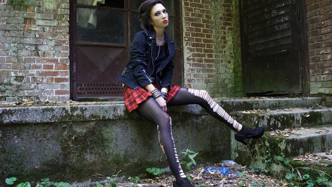 Photos de l'adolescence gothique