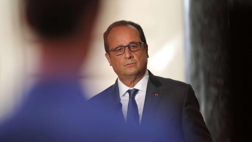 Le président de la République, François Hollande, lors d'une conférence de presse à Paris, le 7 septembre 2015.