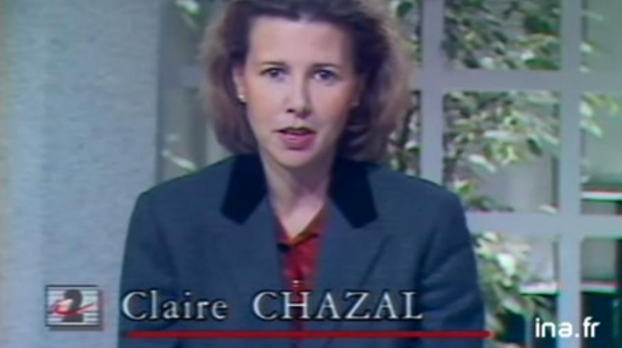 Video quand claire chazal pr sentait son premier jt sur for Antenne 2 telematin cuisine