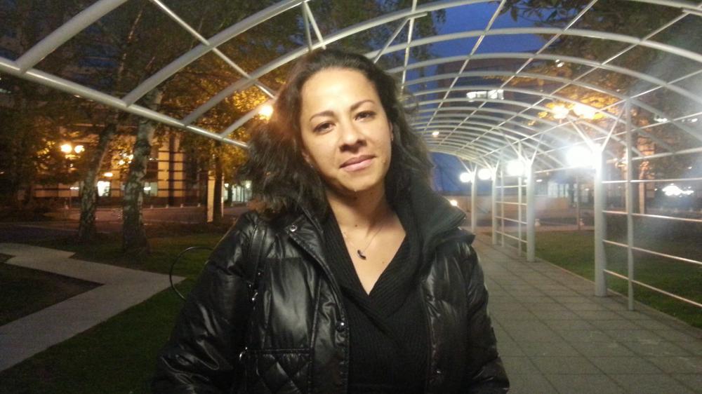 Erika, le 7 octobre 2015, près du siège d'Air France, à Roissy.