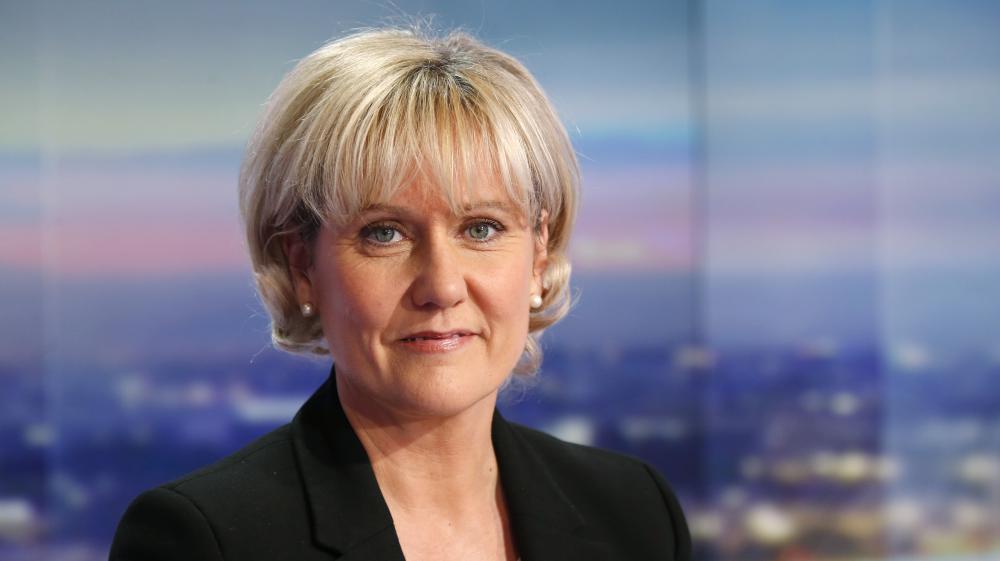Nadine Morano, le 8 octobre 2015 sur le plateau du JT de 20 heures de TF1.