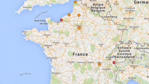 carte pollution les 10 villes de france qui suffoquent ce lundi. Black Bedroom Furniture Sets. Home Design Ideas