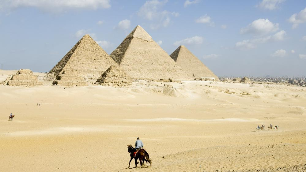 Les pyramides de Gizeh au Caire (Egypte), le 5 mai 2009.