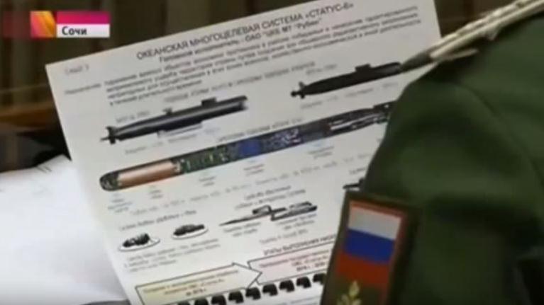 """Capture d'écran d'un document militaire secret montré à la télévision russe""""par erreur"""", selon le Kremlin, le10 novembre 2015."""