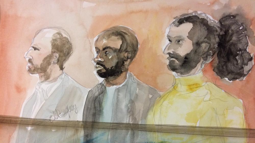 Karim, Paul et Mehdi, trois des sept prévenus jugés, depuis le 1er décembre à Paris, pour leur appartenance présumé à une filière de recrutement jihadiste dans le Val-de-Marne.