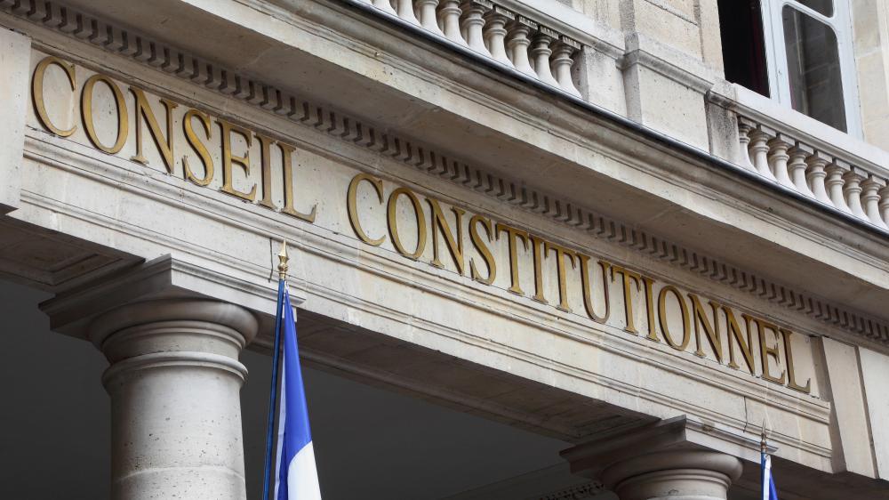 Le fronton du Conseil constitutionnel, dans le 1er arrondissement de Paris, le 4 mai 2015.