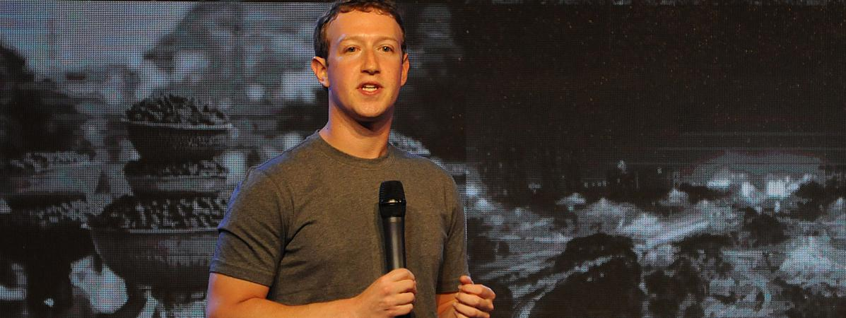 Mark Zuckerberg donne un discours, le 9 octobre 2014, à New Delhi (Inde).