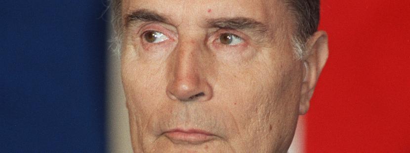 François Mitterrand, à Auxerre (Yonne), le 22 novembre 1986.