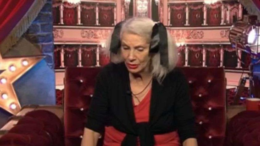 """Angie Bowie est informée de la mort de son ex-mari, le11 janvier 2016, au cours de l'émission de télé-réalité """"Celebrity Big Brother""""."""