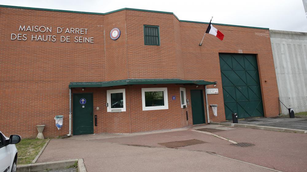 L'entrée de la maison d'arrêt de Nanterre (Hauts-de-Seine) le 25 avril 2014.