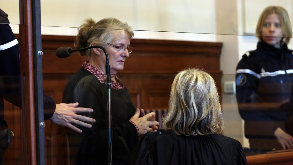 Jacqueline Sauvage devant la cour d'assises de Blois (Loir-et-Cher), le 1er décembre 2015.