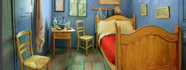la chambre de van gogh est devenue r alit il est m me possible d 39 y dormir. Black Bedroom Furniture Sets. Home Design Ideas