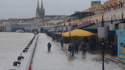 La Garonne en crue inonde la Gironde