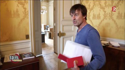"""VIDEO. 13h15. Nicolas Hulot : """"C'est toujours plus difficile de dire non"""""""