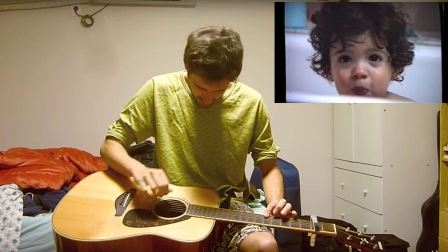 VIDEO. Un guitariste espagnol met en musique une mélodie qu'il a créée à l'âge de 1 an
