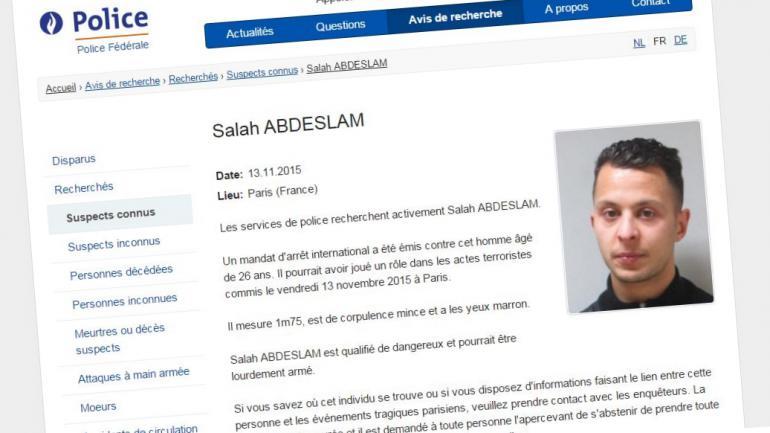 La photo de Salah Abdeslam, principal suspect des attentats de Paris, publiée mardi 17 novembre 2015 par la police fédérale belge.