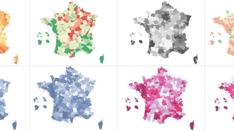 Chômage : huit cartes pour comprendre quinze ans d'évolution du marché du travail en France