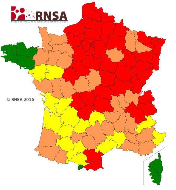 Carte De France Des Allergies   My blog