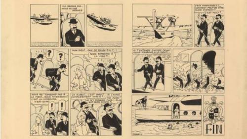 Renaud vend une double planche de Tintin plus d'un million d'euros