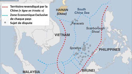 Carte Geographique Asie Pacifique.Les Tensions En Mer De Chine Poussent Les Pays De L Asie Pacifique