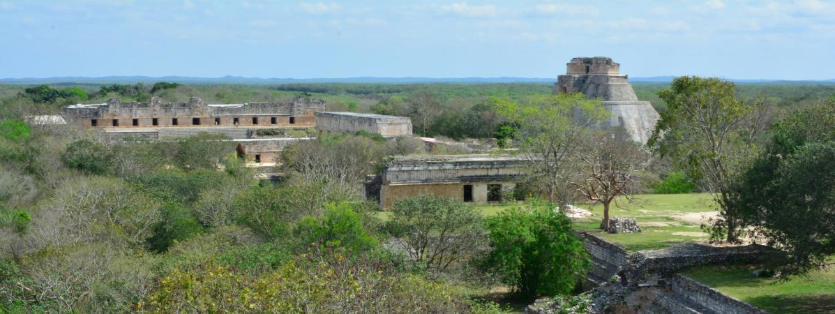 Une ancienne cité maya, dans le Yutacan, au Mexique, le 3 avril 2016.