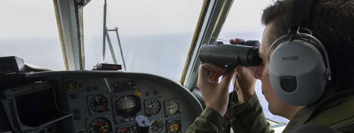 Des membres de la Marine française au large de l'Egypte, le 20 mai 2016.