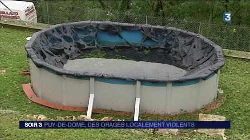 Puy-de-Dôme : la grêle a causé d'importants dégâts