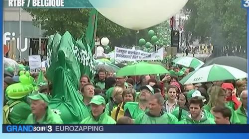 """Eurozapping : la Belgique paralysée à cause de sa """"loi Travail"""", Messi jugé pour fraude fiscale"""