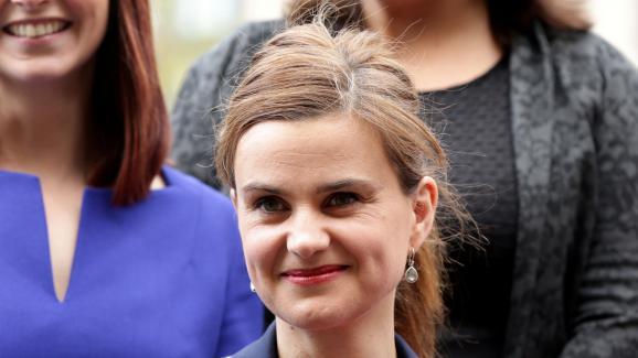 Jo Cox, après son élection, le 12 mai 2015.