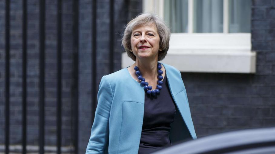 Brexit la ministre de l 39 int rieur theresa may arrive for Interieur ministre