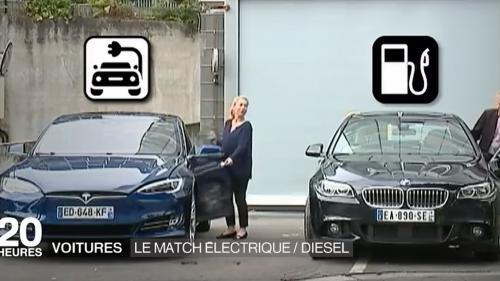 Voitures : le match entre électrique et diesel