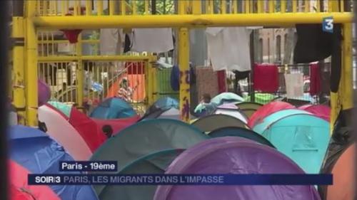Paris : les migrants dans l'impasse