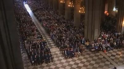 Saint-Etienne-du-Rouvray : messe d'hommage à Notre-Dame de Paris
