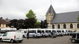 L\'église de Saint-Etienne-du-Rouvray, le 27 juillet 2016.