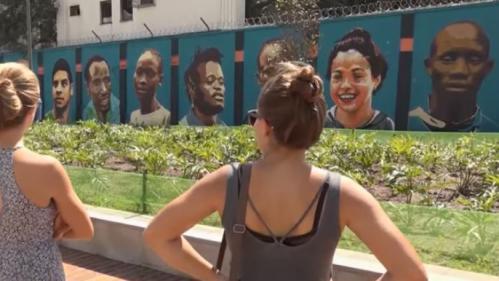 VIDEO. JO 2016 : l'équipe des réfugiés immortalisée sur une fresque par des street artists