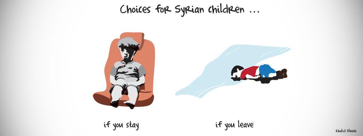 Le choix des enfants syriens d 39 aylan omran le - Dessin horreur ...