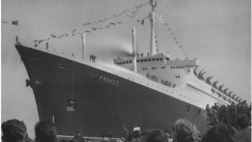 11 mai 1960, baptême du paquebot France