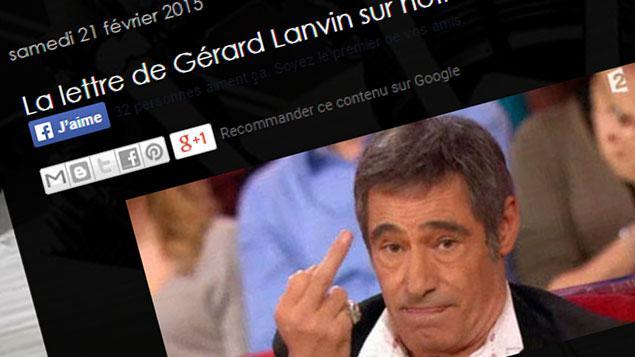 lettre gerard lanvin La lettre que n'a pas écrit Gérard Lanvin lettre gerard lanvin