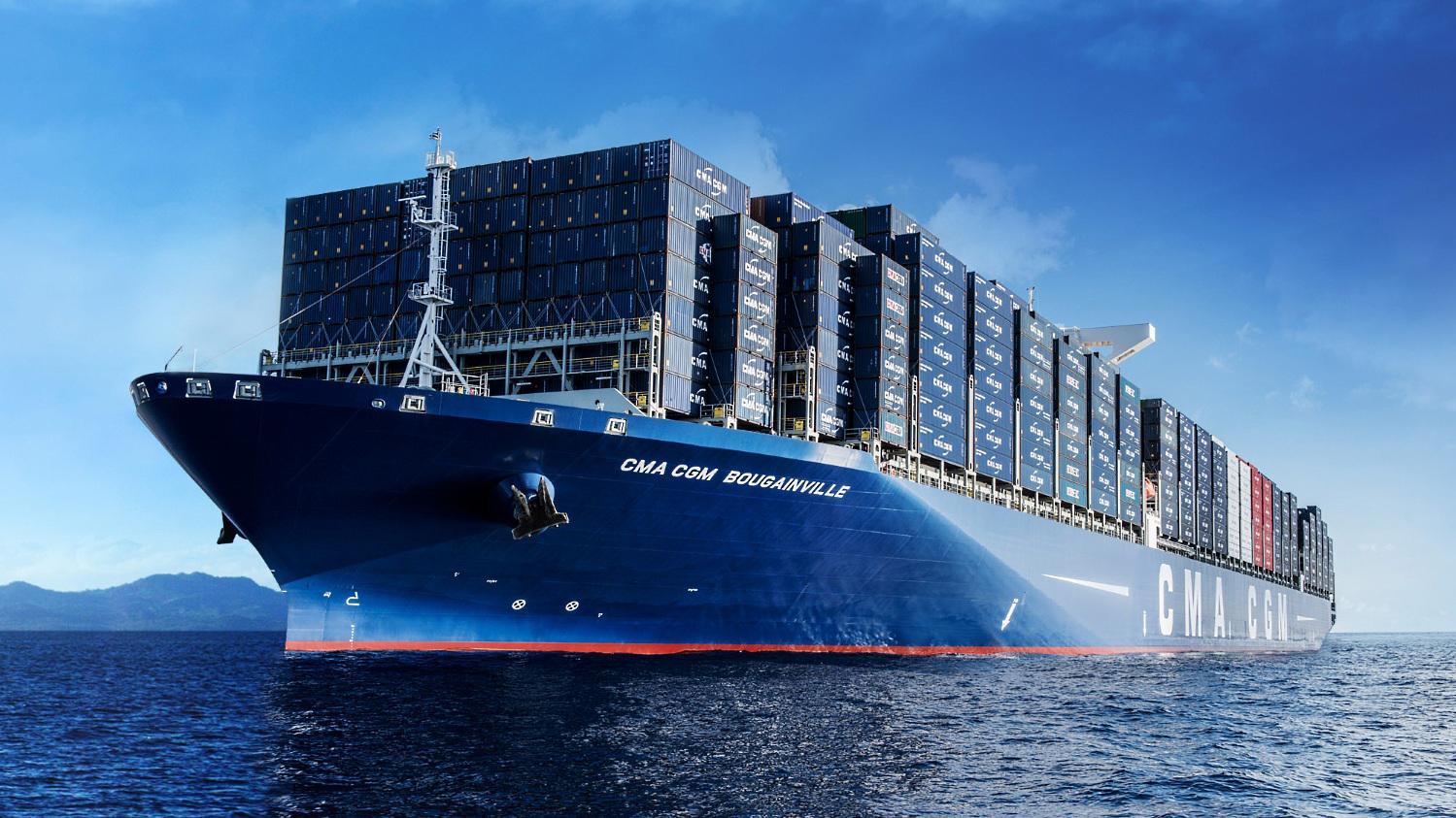 Le bougainville le plus gros porte containers au monde - Les plus grand port du monde ...