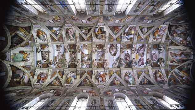Plafond chapelle sixtine michel ange 28 images for Exterieur chapelle sixtine