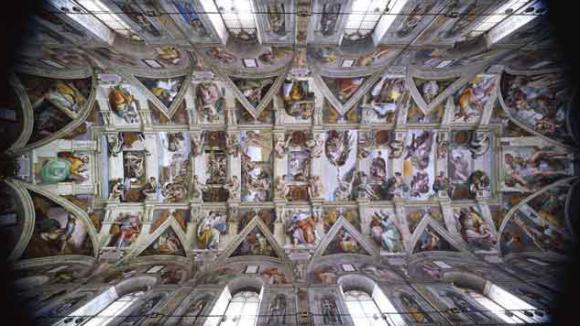 Pourquoi michel ange a t il peint le plafond de la - Fresque du plafond de la chapelle sixtine ...