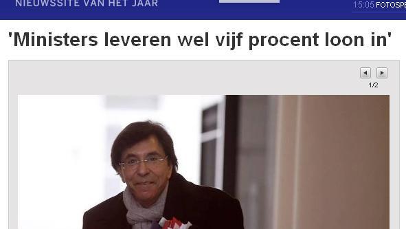 le gouvernement belge d u00e9ment une hausse du salaire des ministres